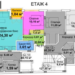 жил. сграда, ул. Рали Мавридов 30, ап.11, ет.4